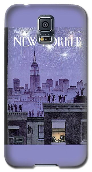 Rooftop Revelers Celebrate New Year's Eve Galaxy S5 Case