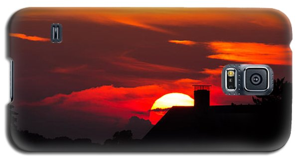 Rooftop Sunset Silhouette Galaxy S5 Case
