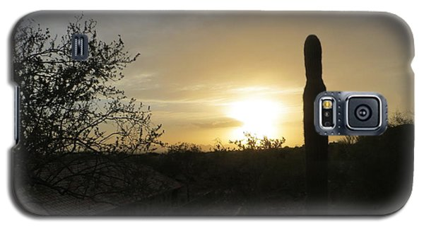 Galaxy S5 Case featuring the photograph Rooftops At Desert Sunset by Jean Marie Maggi