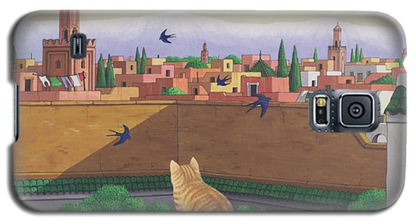 Rooftops In Marrakesh Galaxy S5 Case by Larry Smart