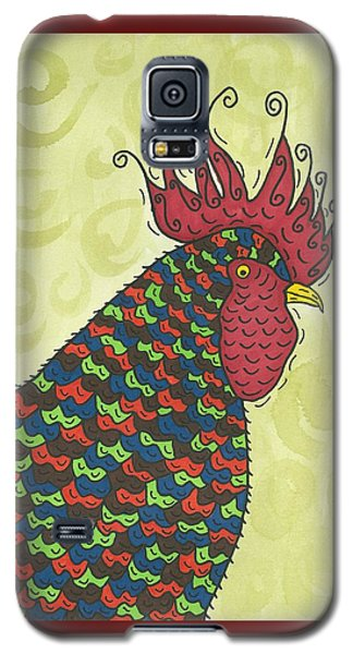 Galaxy S5 Case featuring the painting Rooster Comb by Susie Weber