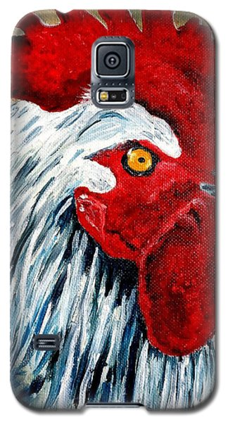 Galaxy S5 Case featuring the painting Rooster Doodle by Julie Brugh Riffey