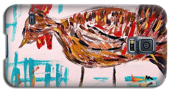 Galaxy S5 Case featuring the painting Rooster Man  by Mary Carol Williams