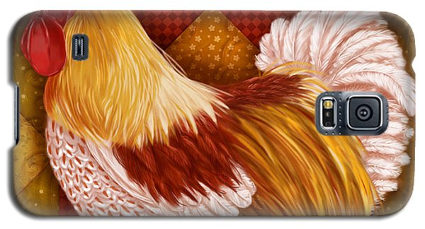 Rooster On A Quilt I Galaxy S5 Case