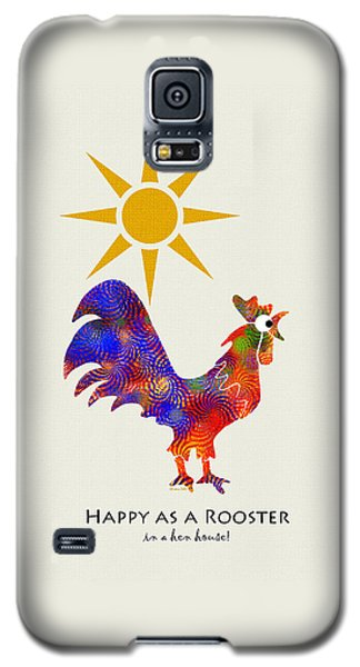 Rooster Pattern Art Galaxy S5 Case