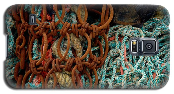 Galaxy S5 Case featuring the photograph Ropes And Rusty Wires by Dorin Adrian Berbier