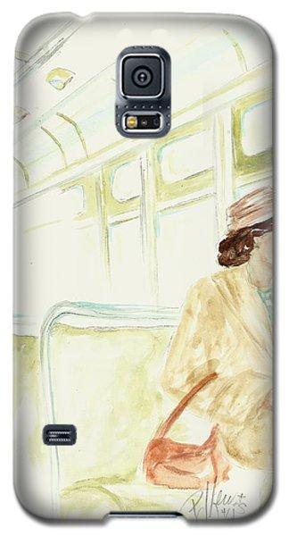 Rosa Parks Rides Galaxy S5 Case by P J Lewis