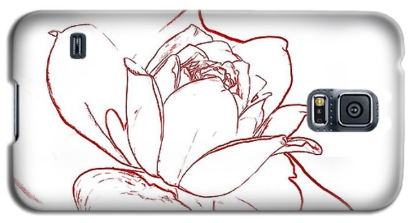 Galaxy S5 Case featuring the digital art Rose 2 by Ludwig Keck