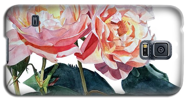 Pink And Yellow Rose Anne Galaxy S5 Case
