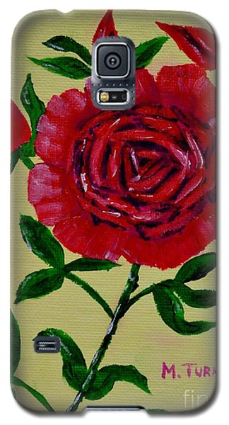 Galaxy S5 Case featuring the painting Rose Buds by Melvin Turner