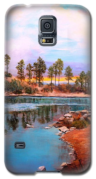 Galaxy S5 Case featuring the painting Rose Canyon Lake 2 by M Diane Bonaparte
