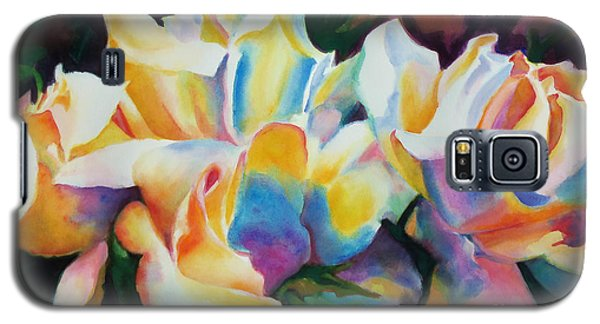 Galaxy S5 Case featuring the painting Rose Cluster Half by Kathy Braud