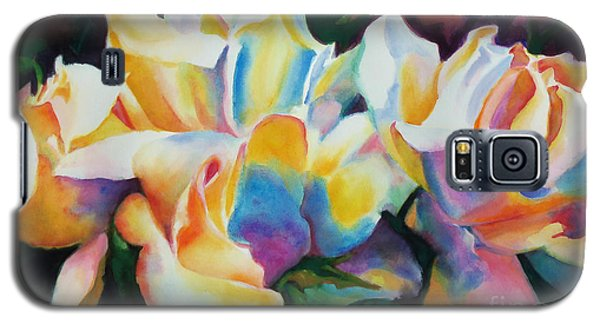Rose Cluster Half Galaxy S5 Case by Kathy Braud
