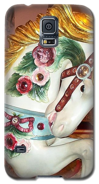 Galaxy S5 Case featuring the photograph Rose Covered Pony by Barbara McDevitt
