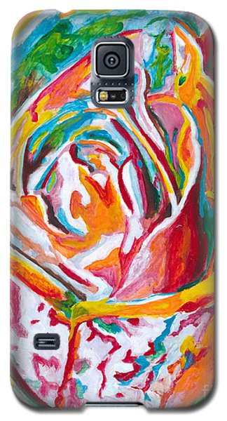 Galaxy S5 Case featuring the painting Rose by Denise Deiloh