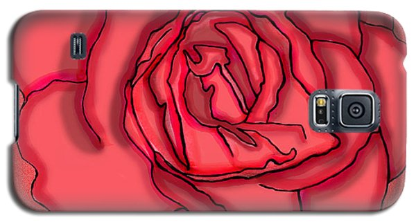 Rose Drawing Galaxy S5 Case