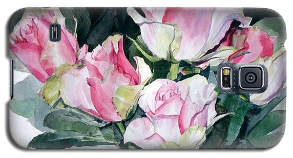 Watercolor Of A Pink Rose Bouquet Celebrating Ezio Pinza Galaxy S5 Case