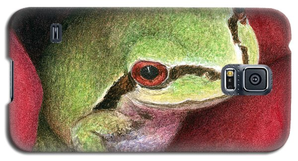 Galaxy S5 Case featuring the painting Rose Frog by Pat Erickson