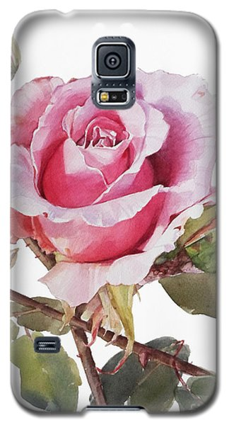 Watercolor Of Pink Rose Grace Galaxy S5 Case