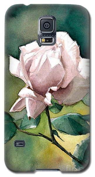 Galaxy S5 Case featuring the painting Lilac Rose  by Greta Corens