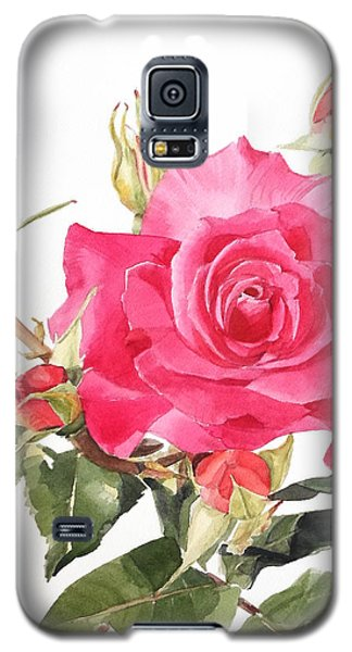 Watercolor Red Rose Margaret Galaxy S5 Case