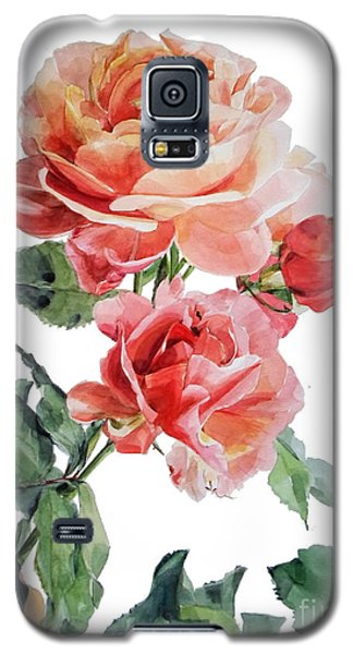 Watercolor Of Red Roses On A Stem I Call Rose Maurice Corens Galaxy S5 Case