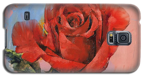 Rose Painting Galaxy S5 Case by Michael Creese