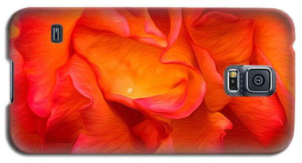 Rose Red Orange Yellow Galaxy S5 Case