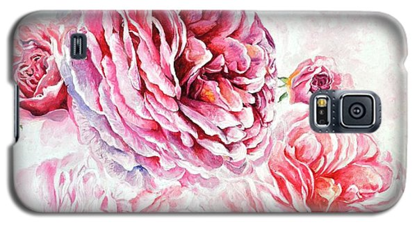 Galaxy S5 Case featuring the painting Rose Reflection 1 by Sandra Phryce-Jones