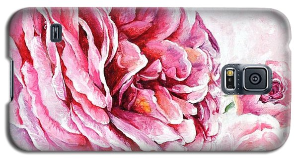 Galaxy S5 Case featuring the painting Rose Reflection 2 by Sandra Phryce-Jones