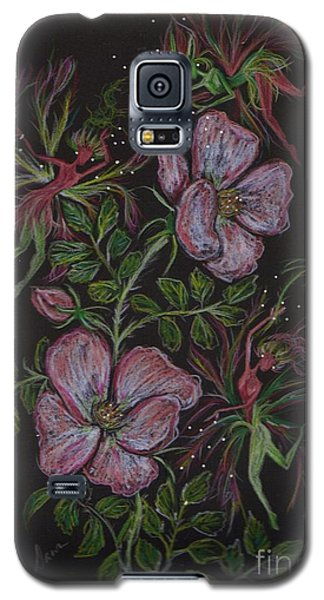 Galaxy S5 Case featuring the drawing Rose Run Amok by Dawn Fairies
