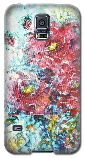 Galaxy S5 Case featuring the painting Rose Summer Delight by Kathleen Pio