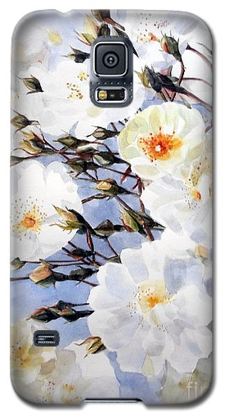 Wartercolor Of White Roses On A Branch I Call Rose Tchaikovsky Galaxy S5 Case