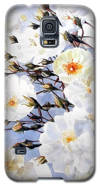 Rose Tchaikowsky A Stem Of White Roses And Buds Galaxy S5 Case by Greta Corens