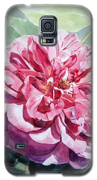 Watercolor Of A Pink Rose In Full Bloom Dedicated To Van Gogh Galaxy S5 Case
