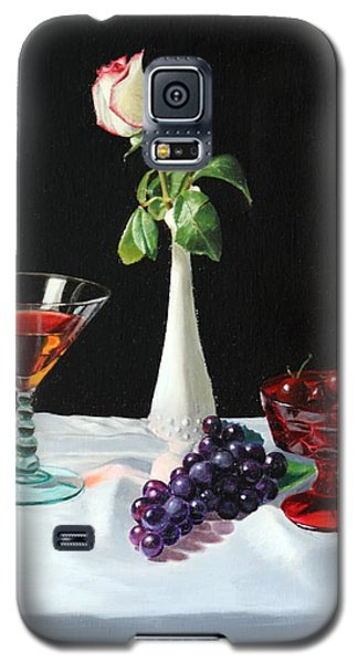 Galaxy S5 Case featuring the painting Rose Wine And Fruit by Glenn Beasley