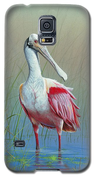 Roseate Spoonbill Galaxy S5 Case by Mike Brown