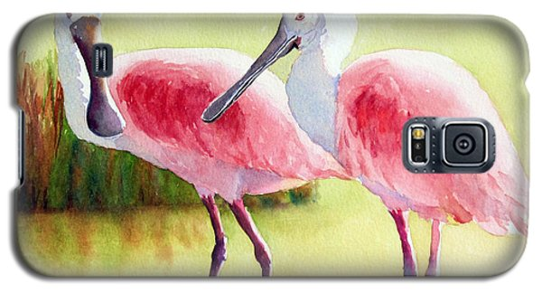 Roseate Spoonbills Galaxy S5 Case by Judy Mercer