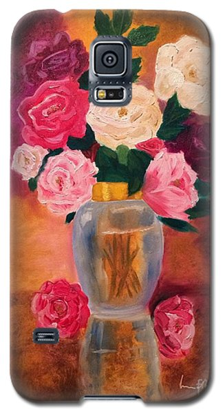 Galaxy S5 Case featuring the painting Roses 2 by Brindha Naveen