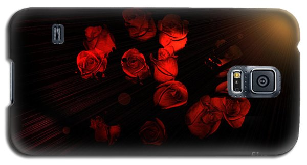 Roses And Black Galaxy S5 Case
