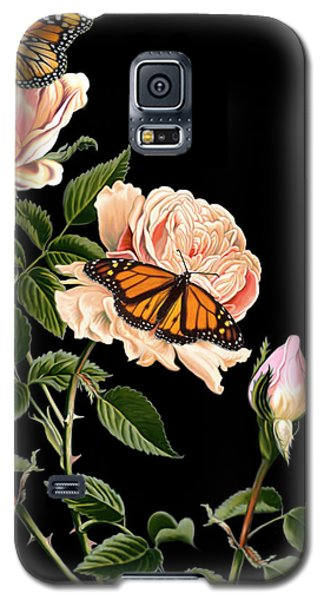 Roses And Butterflies Galaxy S5 Case