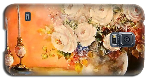Roses And Candlelight Galaxy S5 Case by Patricia Schneider Mitchell