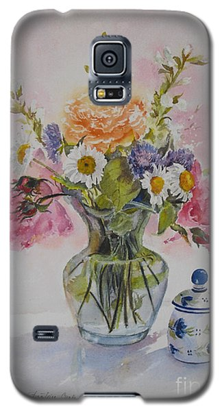 Roses And Daisies Galaxy S5 Case by Beatrice Cloake