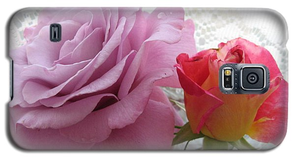 Roses And Lace Galaxy S5 Case by Marlene Rose Besso