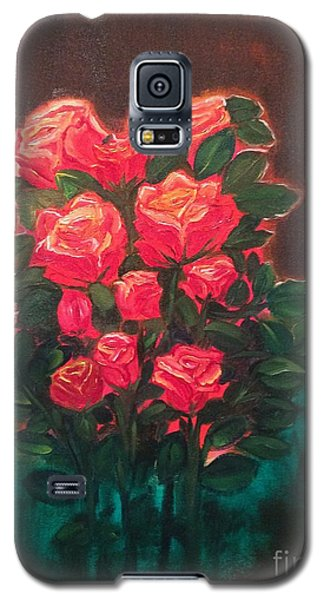 Galaxy S5 Case featuring the painting Roses by Brindha Naveen
