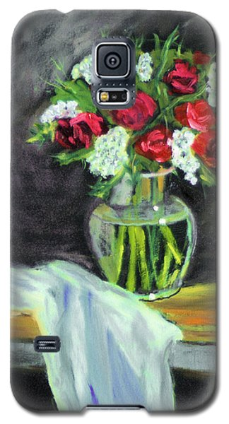 Galaxy S5 Case featuring the painting Roses For Mother's Day by Michael Daniels