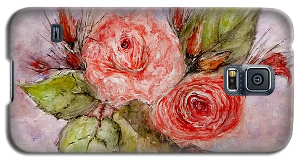 Galaxy S5 Case featuring the painting Roses For You... by Cristina Mihailescu