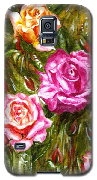 Galaxy S5 Case featuring the painting Roses by Harsh Malik