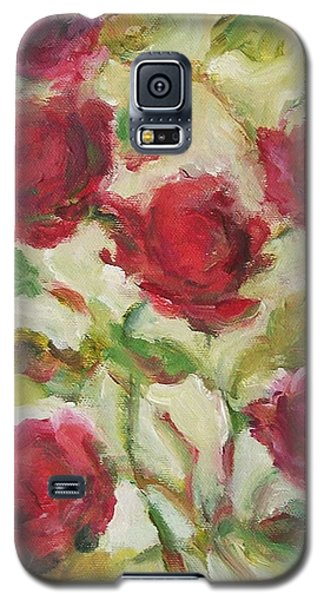 Galaxy S5 Case featuring the painting Roses by Mary Wolf