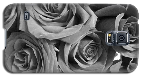 Galaxy S5 Case featuring the photograph Roses On Your Wall Black And White  by Joseph Baril